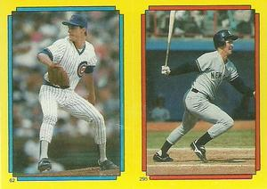 1988 Topps Stickers #62 / 295 Jamie Moyer / Mike Pagliarulo / Gary Carter Front