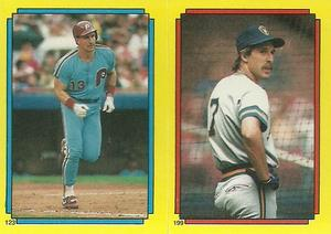 1988 Topps Stickers #123 / 199 Lance Parrish / Dale Sveum Front