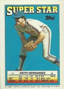 1988 Topps Stickers #62 / 295 Jamie Moyer / Mike Pagliarulo / Keith Hernandez Back
