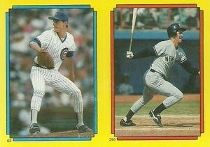 1988 Topps Stickers #62 / 295 Jamie Moyer / Mike Pagliarulo / Keith Hernandez Front