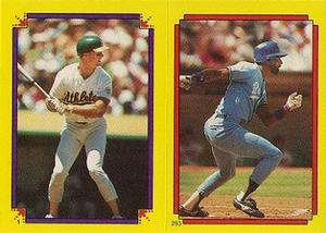 1988 Topps Stickers #1 / 263 Mark McGwire / Willie Wilson Front