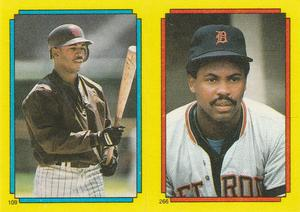 1988 Topps Stickers #109 / 266 Stan Jefferson / Bill Madlock Front