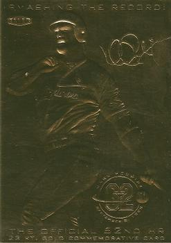 1998 Fleer Tradition 23kt Gold Commemorative Card Mark