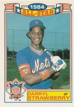 1985 Topps - Glossy All-Stars #8 Darryl Strawberry Front