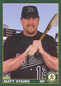 2000 Plumbers Union Oakland Athletics #4 Matt Stairs Front