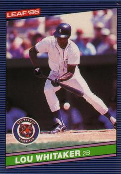 1986 Leaf #33 Lou Whitaker Front