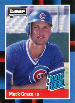 1988 Leaf #40 Mark Grace Front