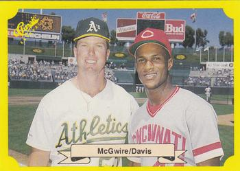 1987 Classic Update Yellow/Green Backs #NNO Mark McGwire / Eric Davis Front