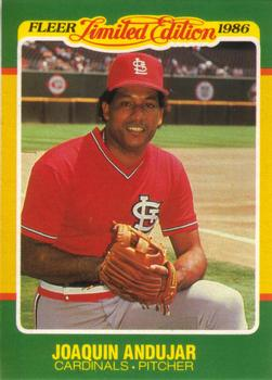 1986 Fleer Limited Edition #2 Joaquin Andujar Front