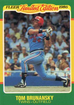 1986 Fleer Limited Edition #9 Tom Brunansky Front