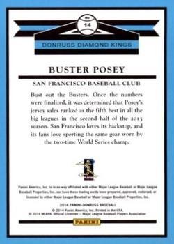 2014 Donruss #14 Buster Posey Back