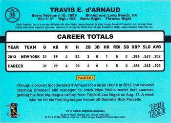 2014 Donruss #36 Travis d'Arnaud Back