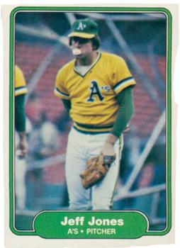 1982 Fleer #94 Jeff Jones Front