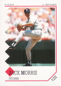 1992 Panini Stickers #122 Jack Morris Front