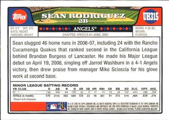 2008 Topps Updates & Highlights #UH315 Sean Rodriguez Back
