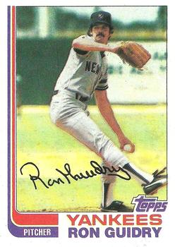 1982 Topps #9 Ron Guidry Front