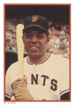 1985 Topps Circle K #3 Willie Mays Front