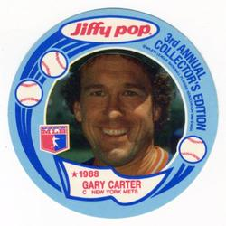 1988 Jiffy Pop Discs #3 Gary Carter Front