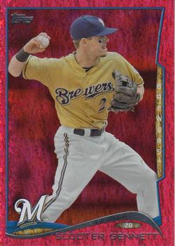 2014 Topps - Red Foil #130 Scooter Gennett Front