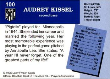 1995 Larry Fritsch Cards AAGPBL Series 1 #100 Audrey Kissel Back