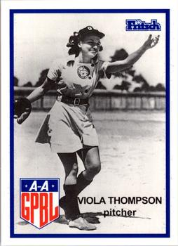 1995 Larry Fritsch Cards AAGPBL Series 1 #201 Viola Thompson Front