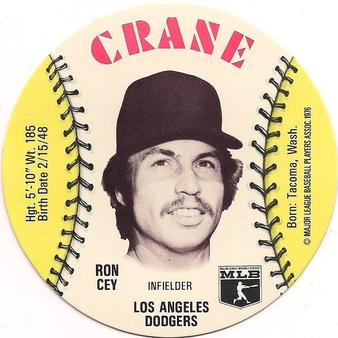 1976 Crane Potato Chips Discs #NNO Ron Cey Front