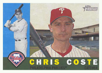 2009 Topps Heritage #438 Chris Coste Front