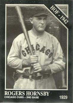 1991 Conlon Collection TSN #1 Rogers Hornsby Front