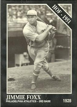 1991 Conlon Collection TSN #2 Jimmie Foxx Front