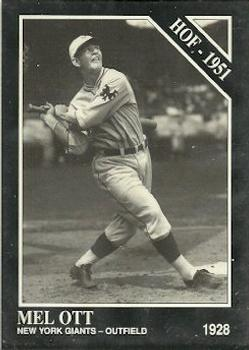 1991 Conlon Collection TSN #7 Mel Ott Front