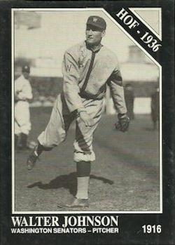 1991 Conlon Collection TSN #9 Walter Johnson Front