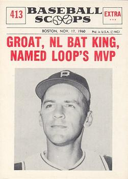 1961 Nu-Card Scoops #413 Dick Groat   Front