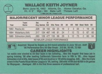 2014 Donruss - Recollection Buyback Autographs #26 Wally Joyner Back