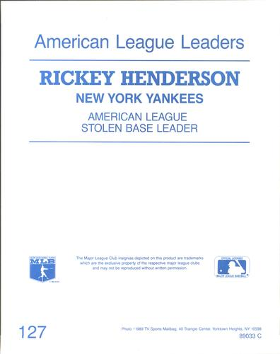 1989 TV Sports Mailbag #127 Rickey Henderson Back