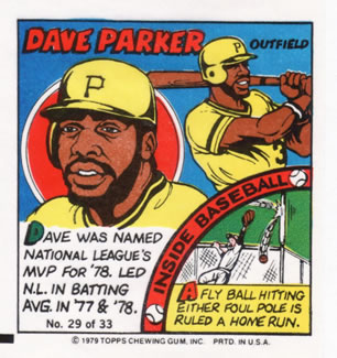 1979 Topps Comics #29 Dave Parker Front
