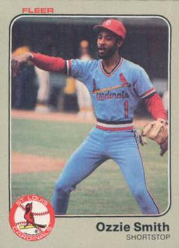 1983 Fleer #22 Ozzie Smith Front