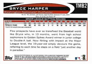 2012 Topps - Mini National Convention #TMB2 Bryce Harper Back