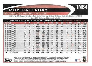 2012 Topps - Mini National Convention #TMB4 Roy Halladay Back