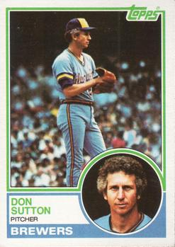 1983 Topps #145 Don Sutton Front