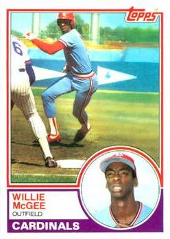 1983 Topps #49 Willie McGee Front