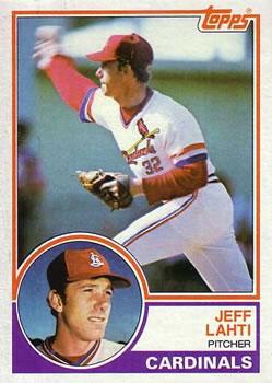 1983 Topps #284 Jeff Lahti Front