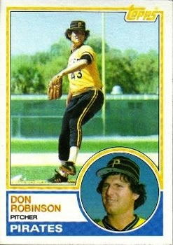 1983 Topps #44 Don Robinson Front