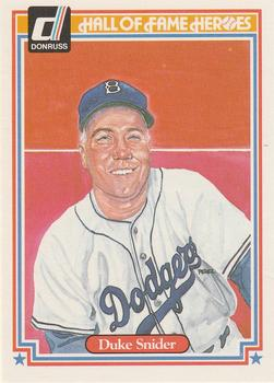 1983 Donruss Hall of Fame Heroes #14 Duke Snider Front