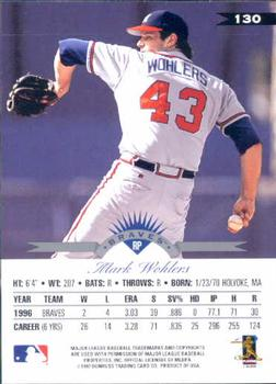 1997 Leaf #130 Mark Wohlers Back