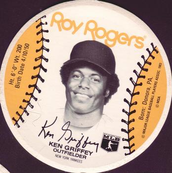 6e2cac34bb 1983 Roy Rogers New York Yankees Discs #NNO Ken Griffey Sr.