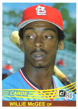 1984 Donruss #353 Willie McGee Front