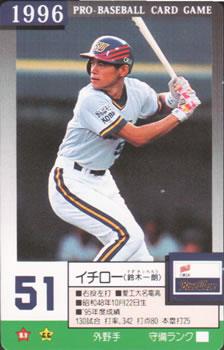 a839d23224b 1996 Takara Orix BlueWave  51 Ichiro Suzuki