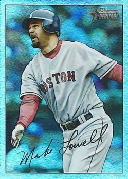 2007 Bowman Heritage - Rainbow Foil #14 Mike Lowell Front