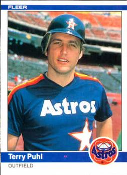 1984 Fleer 235 Terry Puhl The Trading Card Database