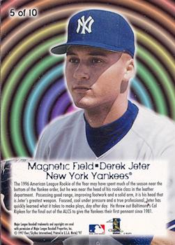 1997 Metal Universe - Magnetic Field #5 Derek Jeter Back
